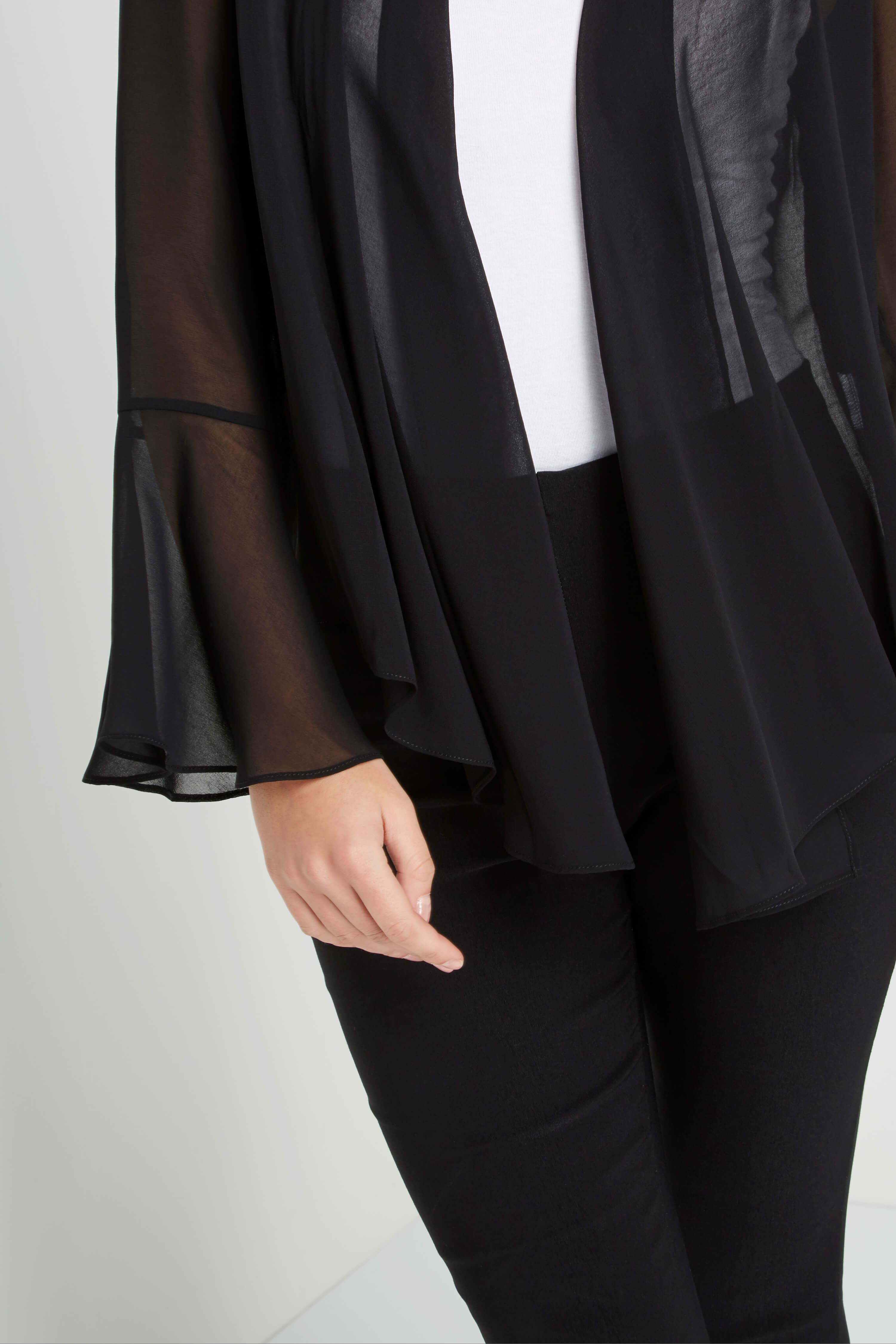 Roman-Originals-Women-039-s-Black-Sheer-Chiffon-Jacket-Sizes-10-20 thumbnail 14