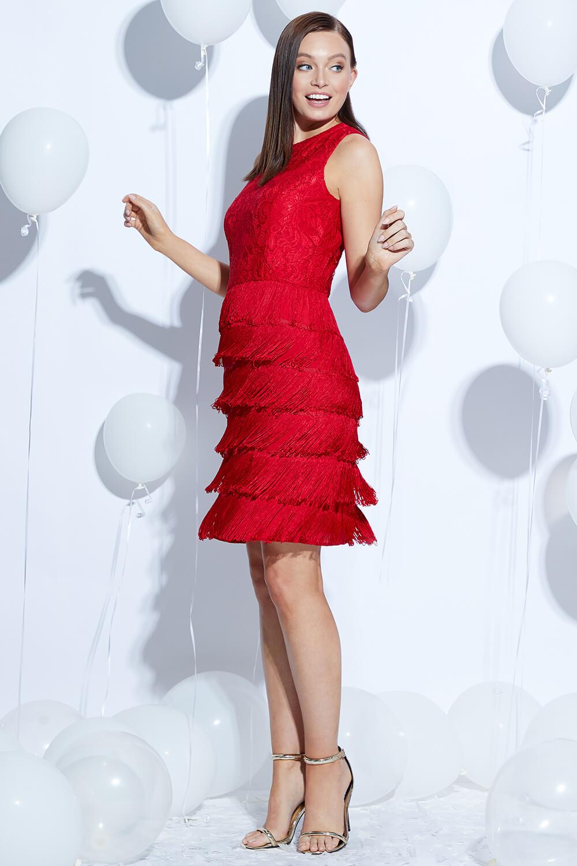thumbnail 22 - Roman-Originals-Womens-Lace-Flapper-Tassels-Dress-in-Black-Sizes-10-20