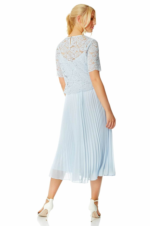 Roman-Originals-Women-Lace-Top-Overlay-Pleated-Dress thumbnail 20