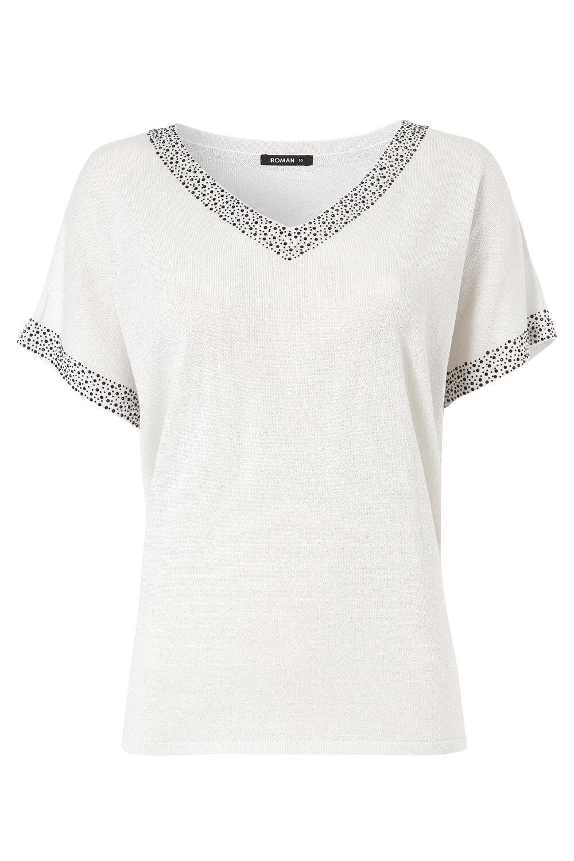 Roman-Originals-Women-039-s-Embellished-Batwing-T-shirt thumbnail 45