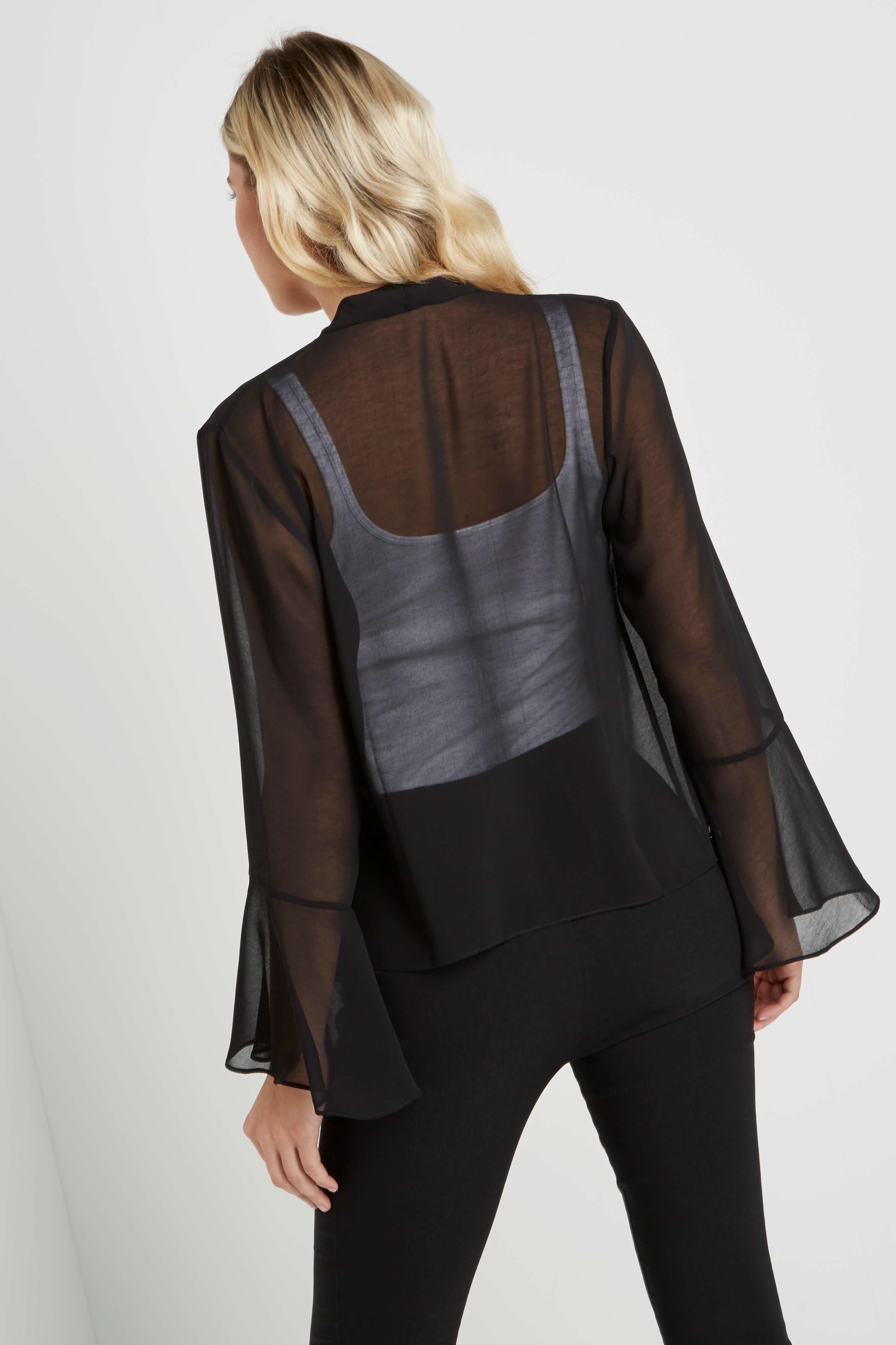 Roman-Originals-Women-039-s-Black-Sheer-Chiffon-Jacket-Sizes-10-20 thumbnail 13
