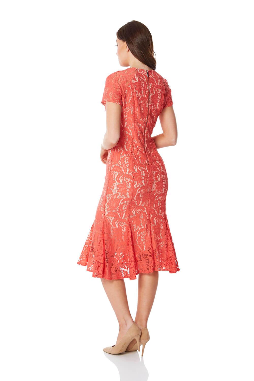 Roman-Originals-Women-039-s-Lace-Flute-Hem-Midi-Dress thumbnail 26