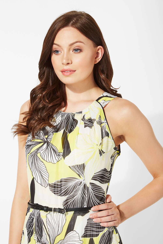 Floral-Halter-Neck-Maxi-Dress-Summer-Evening-Roman-Originals-Women thumbnail 12