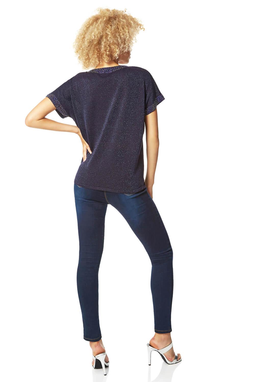 Roman-Originals-Women-039-s-Embellished-Batwing-T-shirt thumbnail 30