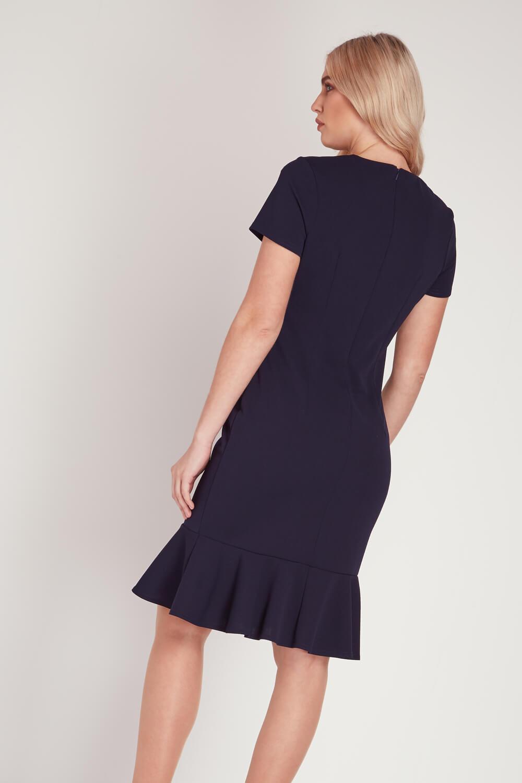 Roman-Originals-Women-039-s-Blue-Pearl-Detail-Square-Neck-Dress-Sizes-10-20 thumbnail 8