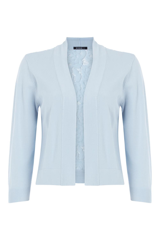 Roman-Originals-Women-Lace-Back-Detail-Shrug-Ladies-Bolero-Jacket thumbnail 18