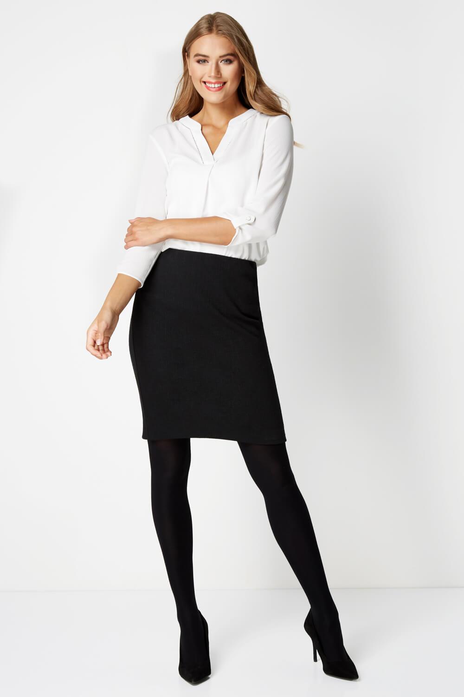 thumbnail 25 - Roman Originals Women's Textured Cotton Mix Jersey Short Skirt Formal Work Wear