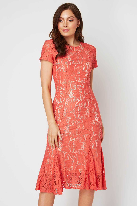 Roman-Originals-Women-039-s-Lace-Flute-Hem-Midi-Dress thumbnail 28