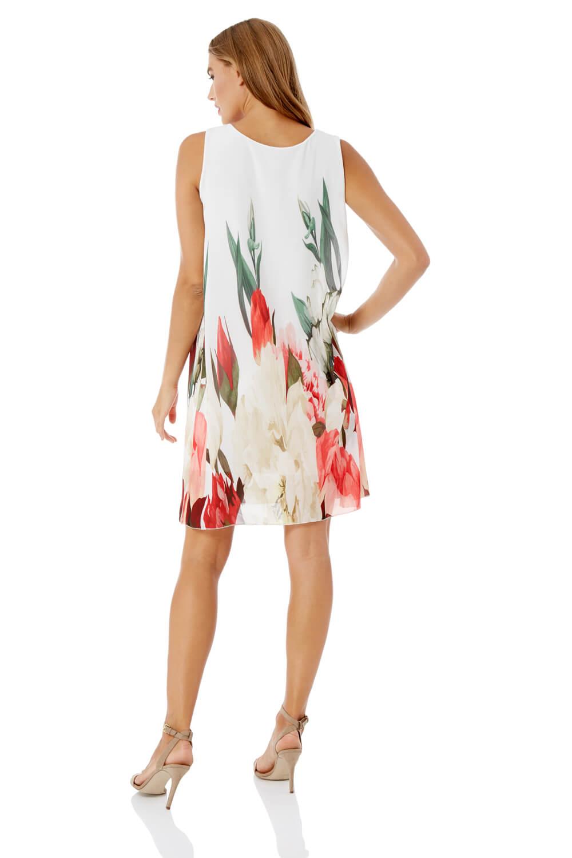 Roman-Originals-Women-039-s-Floral-Print-Swing-Dress-Sizes-10-20 thumbnail 8