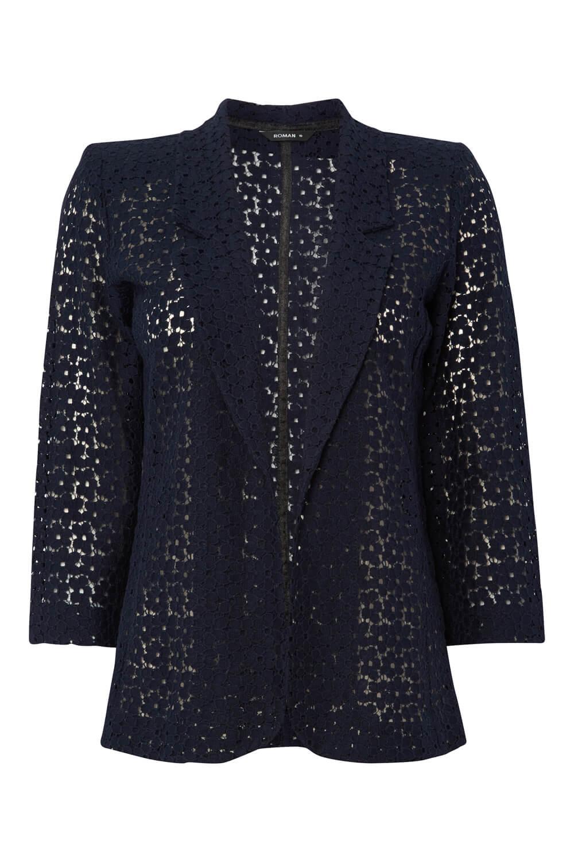 Roman-Originals-Women-039-s-Blue-Floral-Lace-Jacket-Sizes-10-20 thumbnail 24