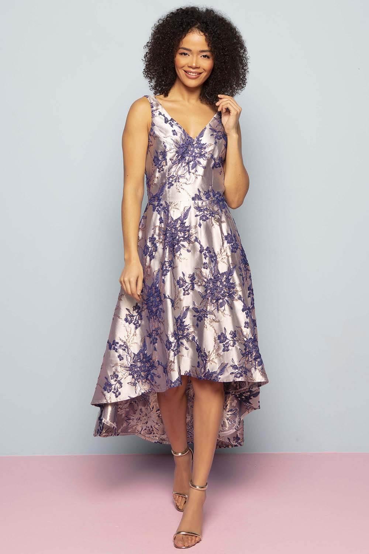 Roman-Originals-Women-Floral-Jacquard-Gown-Dress thumbnail 10