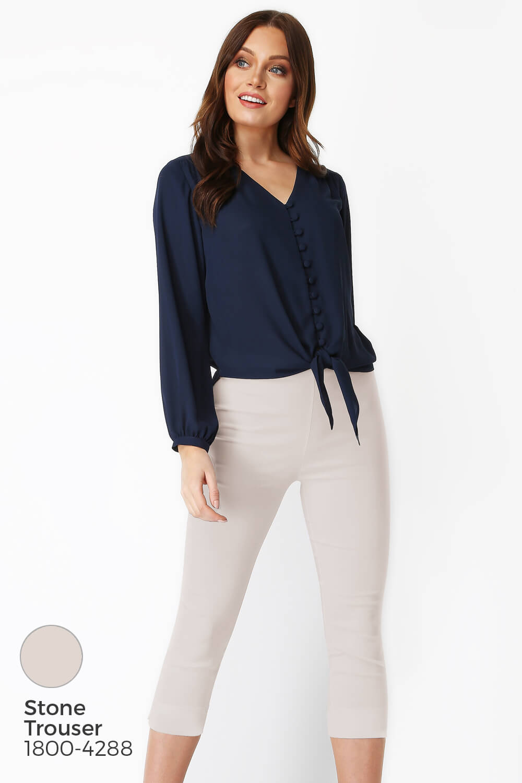 Roman-Originals-Women-039-s-Button-Tie-Front-Blouse-Ladies-Tops thumbnail 32