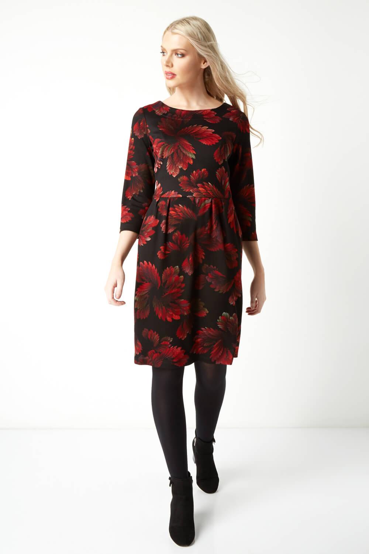 Roman-Originals-Women-Floral-Ponte-Dress thumbnail 10