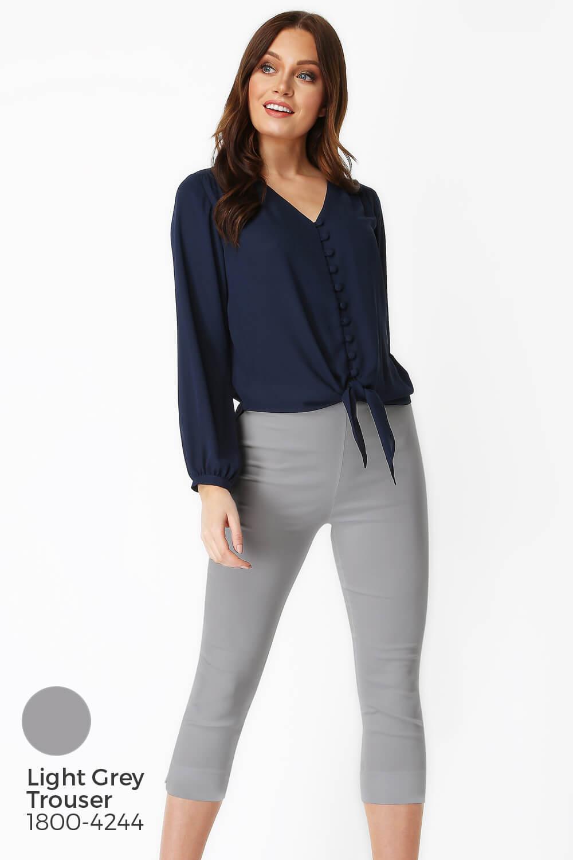 Roman-Originals-Women-039-s-Button-Tie-Front-Blouse-Ladies-Tops thumbnail 33