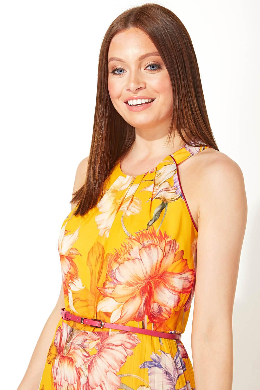 Roman-Originals-Women-039-s-Sleeveless-Floral-Pleated-Maxi-Dress thumbnail 24