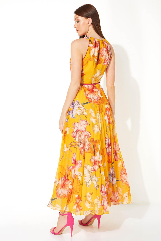 Roman-Originals-Women-039-s-Sleeveless-Floral-Pleated-Maxi-Dress thumbnail 22