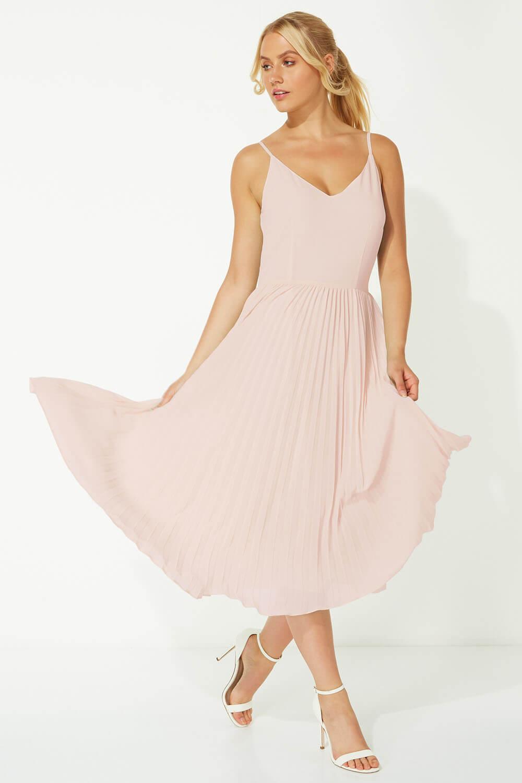 Roman-Originals-Women-Lace-Top-Overlay-Pleated-Dress thumbnail 31