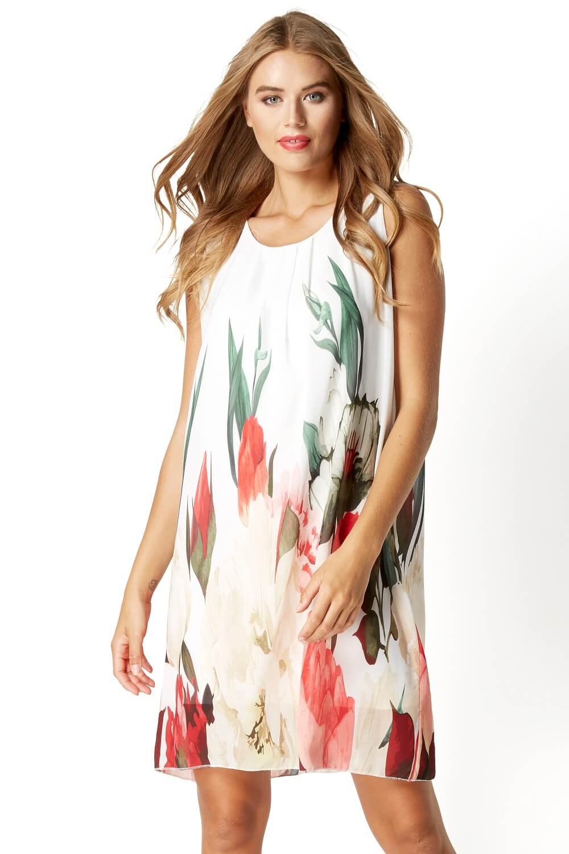 Roman-Originals-Women-039-s-Floral-Print-Swing-Dress-Sizes-10-20 thumbnail 9