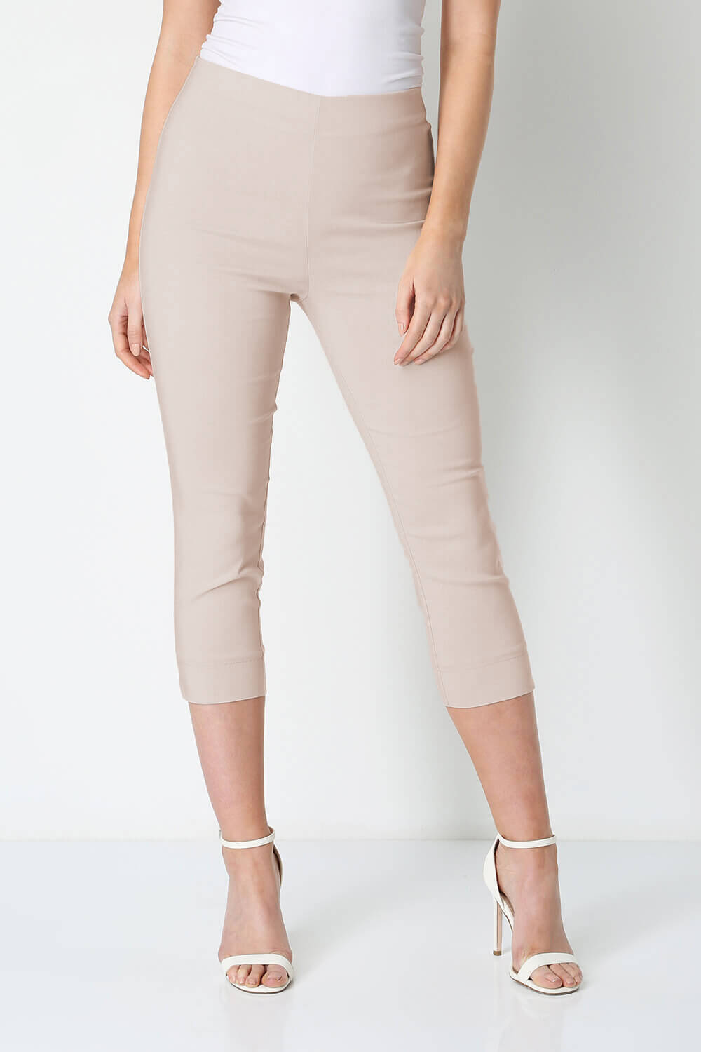 Roman-Originals-Women-Cropped-Stretch-Bengaline-Capri-Trousers-3-4-Thick-Legging 縮圖 199