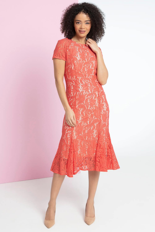 Roman-Originals-Women-039-s-Lace-Flute-Hem-Midi-Dress thumbnail 27