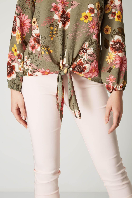 Roman-Originals-Femmes-Floral-Tie-Front-Top miniature 15