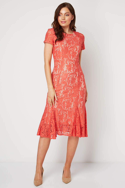 Roman-Originals-Women-039-s-Lace-Flute-Hem-Midi-Dress thumbnail 29