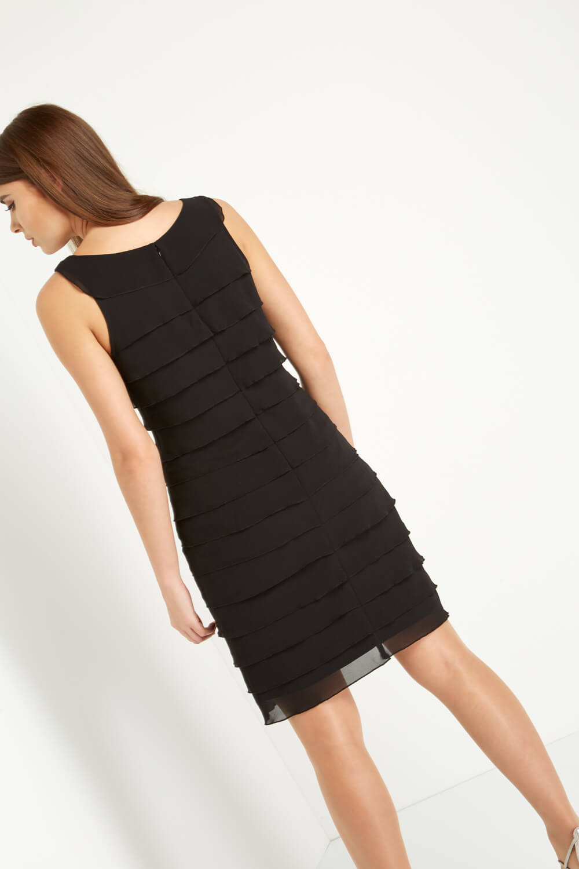 Roman-Originals-Women-039-s-Black-Embellished-Chiffon-Frill-Dress-Sizes-10-20 thumbnail 8