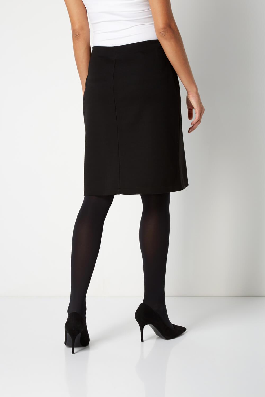 Roman-Originals-Women-Ponte-Zip-Skirt-in-Black-sizes-10-20 thumbnail 9