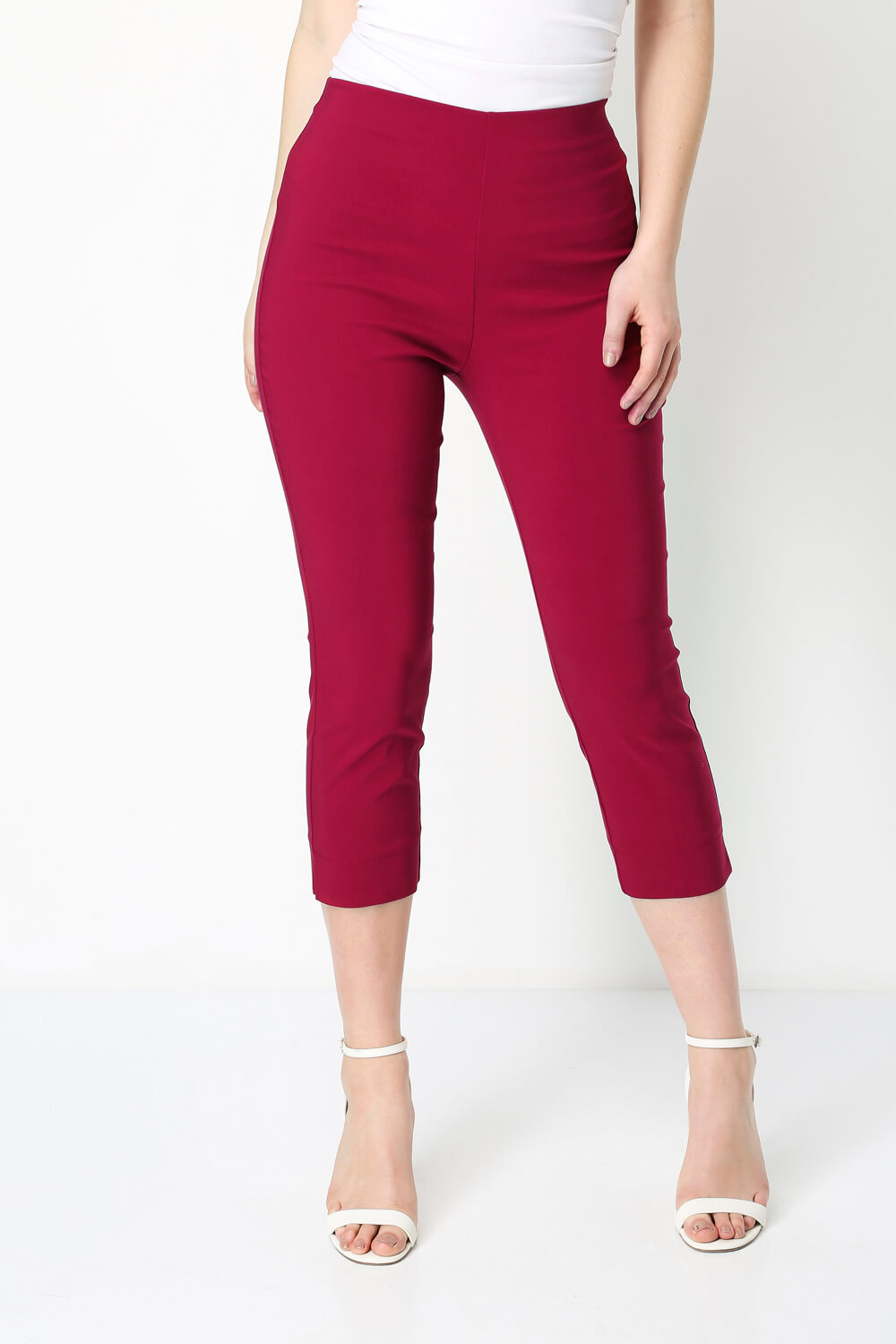 Roman-Originals-Women-Cropped-Stretch-Bengaline-Capri-Trousers-3-4-Thick-Legging 縮圖 281