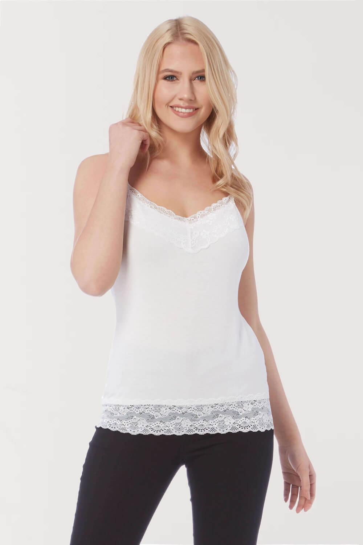 Roman-Originals-Women-Lace-Trim-Camisole-Top thumbnail 24