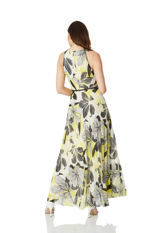 Floral-Halter-Neck-Maxi-Dress-Summer-Evening-Roman-Originals-Women thumbnail 9