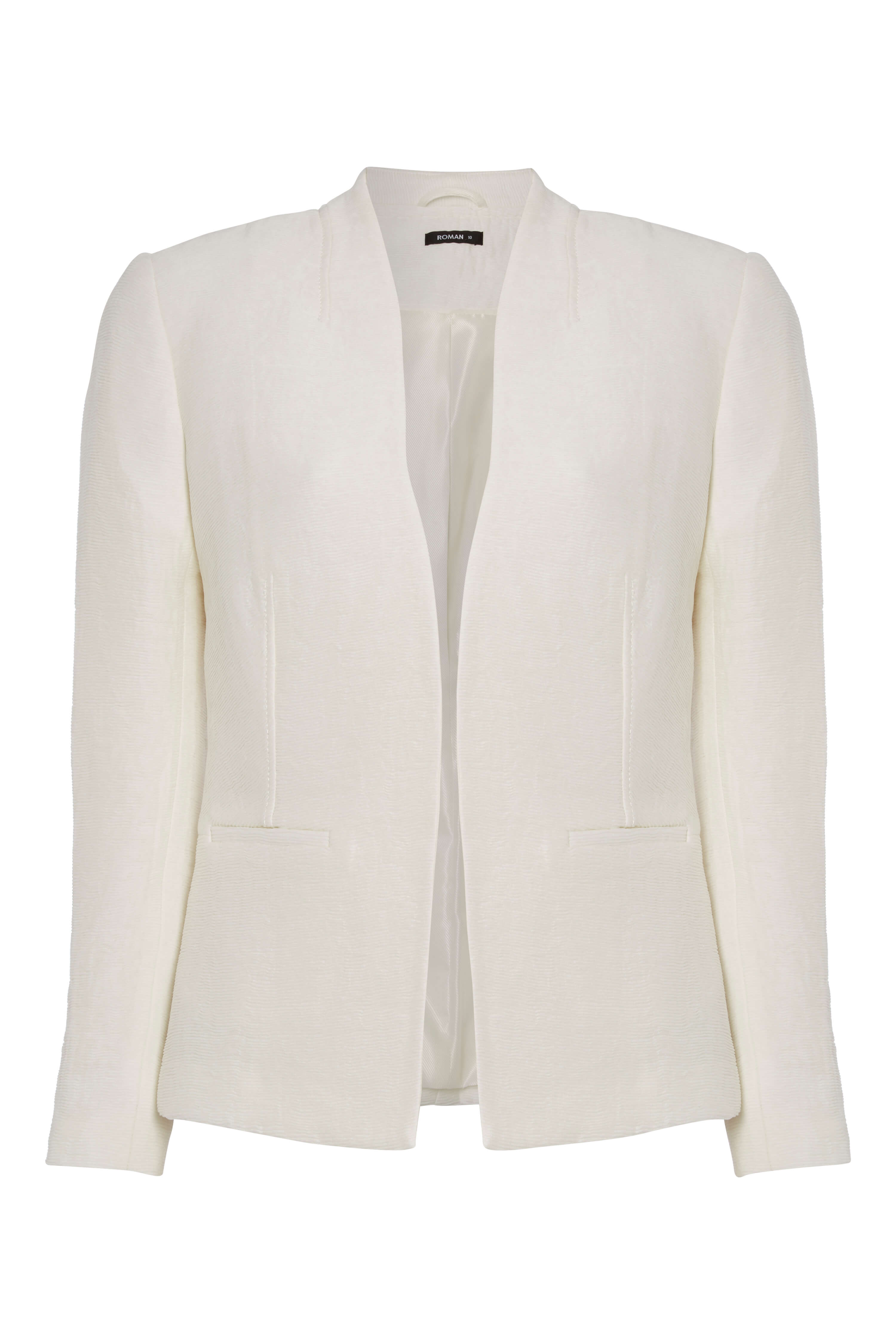 Roman-Originals-Women-039-s-White-Pleat-Tailored-Jacket-Sizes-10-20 thumbnail 19