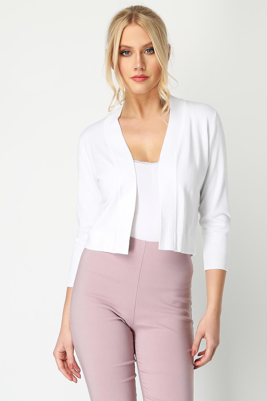 Roman-Originals-Women-Lace-Back-Detail-Shrug-Ladies-Bolero-Jacket thumbnail 30