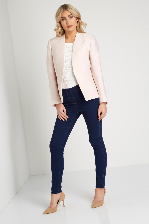 Roman-Originals-Women-039-s-White-Pleat-Tailored-Jacket-Sizes-10-20 thumbnail 23