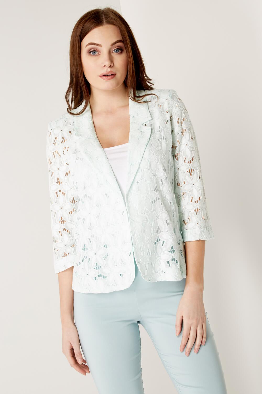 Roman-Originals-Womens-Rose-Pink-Floral-Lace-Jacket-Sizes-10-20 thumbnail 20