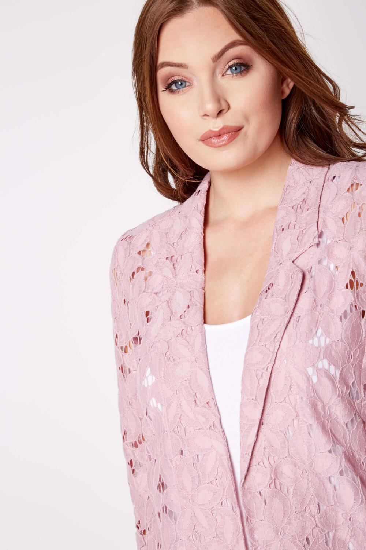 Roman-Originals-Womens-Rose-Pink-Floral-Lace-Jacket-Sizes-10-20 thumbnail 27