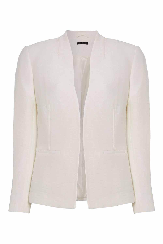 Roman-Originals-Women-039-s-White-Pleat-Tailored-Jacket-Sizes-10-20 thumbnail 18