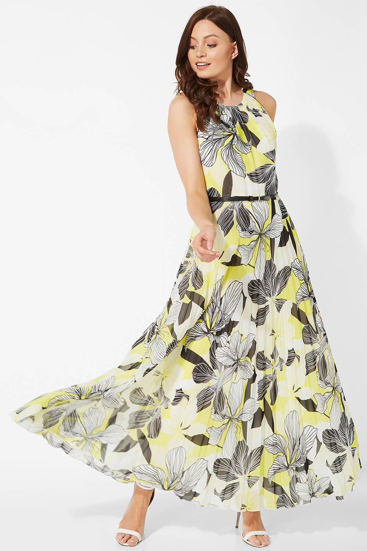 Floral-Halter-Neck-Maxi-Dress-Summer-Evening-Roman-Originals-Women thumbnail 13