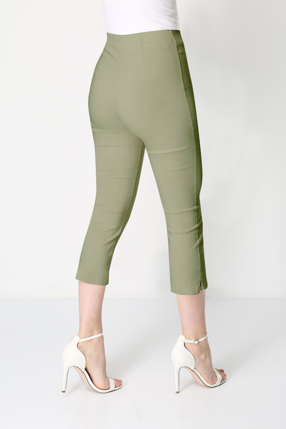 Roman-Originals-Women-Cropped-Stretch-Bengaline-Capri-Trousers-3-4-Thick-Legging 縮圖 115