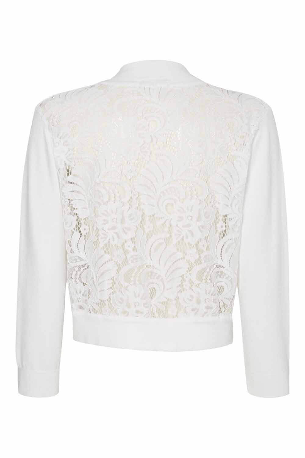 Roman-Originals-Women-039-s-White-Lace-Back-Shrug-Cardigan-Sizes-10-20 thumbnail 41