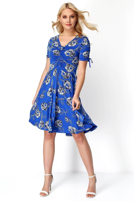Roman-Originals-Rose-Print-Tea-Dress thumbnail 9