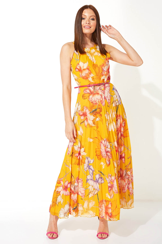 Roman-Originals-Women-039-s-Sleeveless-Floral-Pleated-Maxi-Dress thumbnail 21