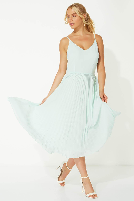 Roman-Originals-Women-Lace-Top-Overlay-Pleated-Dress thumbnail 38