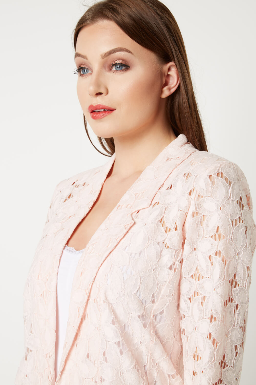 Roman-Originals-Womens-Rose-Pink-Floral-Lace-Jacket-Sizes-10-20 thumbnail 32