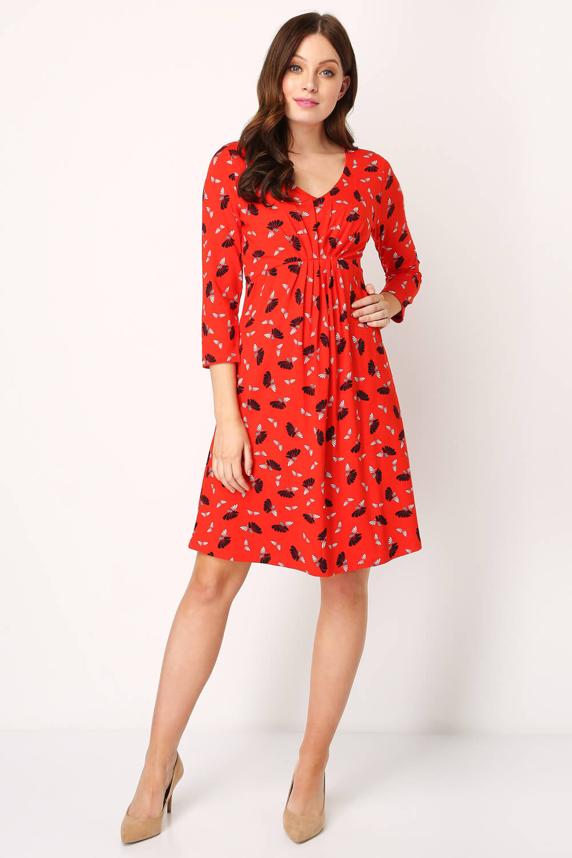 Roman-Originals-Women-039-s-Fan-Print-Shift-Dress thumbnail 19