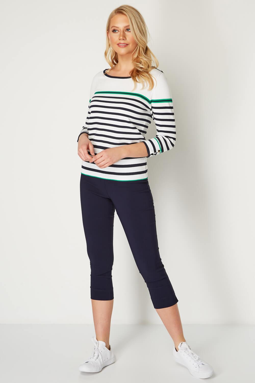 Roman Originals damen Stripe Button Detail Tunic Jumper | | | Sale Online Shop  deae5e