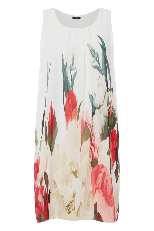 Roman-Originals-Women-039-s-Floral-Print-Swing-Dress-Sizes-10-20 thumbnail 12