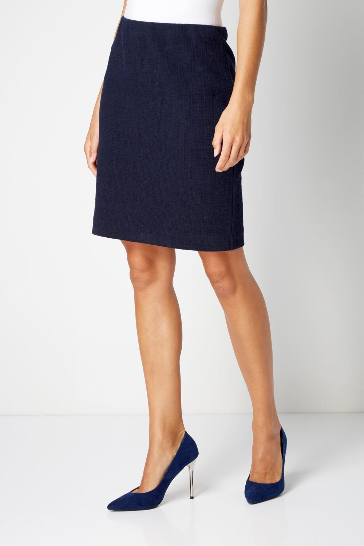 thumbnail 30 - Roman Originals Women's Textured Cotton Mix Jersey Short Skirt Formal Work Wear