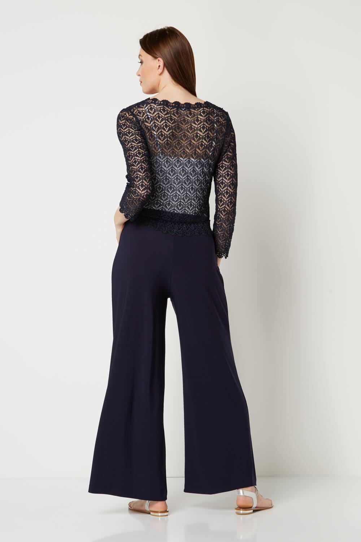 Roman-Originals-Women-039-s-3-4-Sleeve-Crochet-Shrug-Sizes-10-20 thumbnail 8