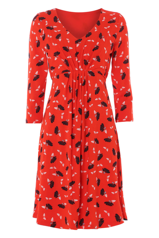 Roman-Originals-Women-039-s-Fan-Print-Shift-Dress thumbnail 20